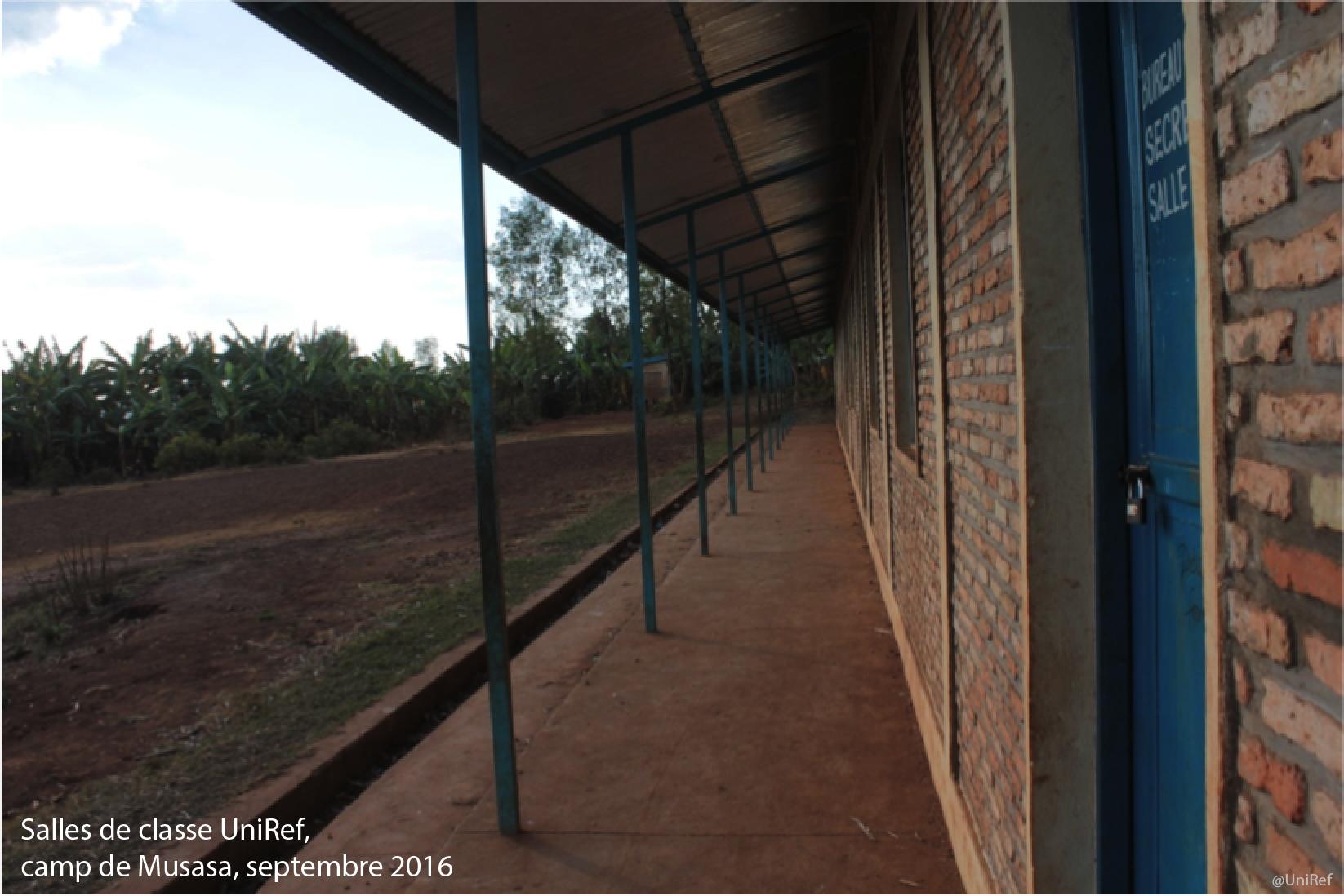Salles de classe UniRef, camps de Musasa, septembre 2016